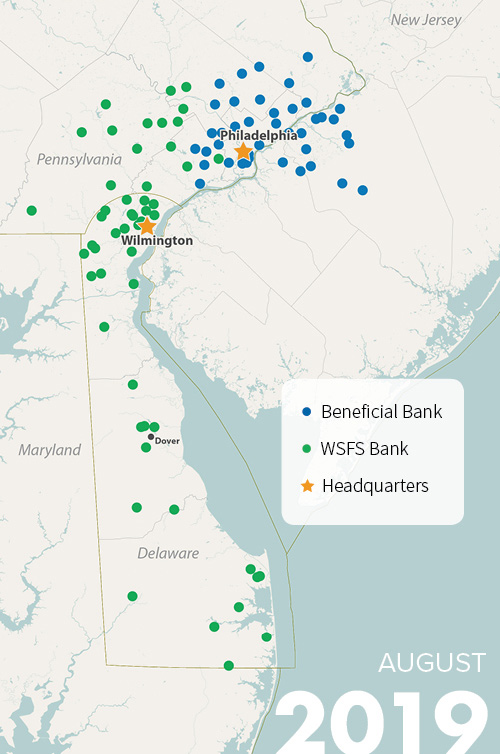 wsfs beneficial mobile map